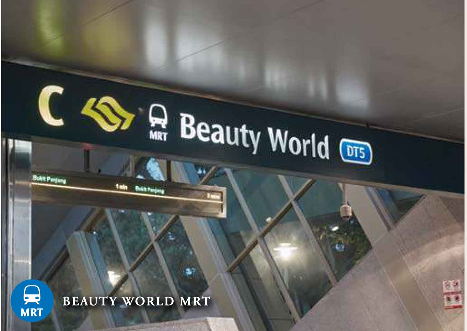 Walk to Beauty World MRT from Daintree Residence Condo