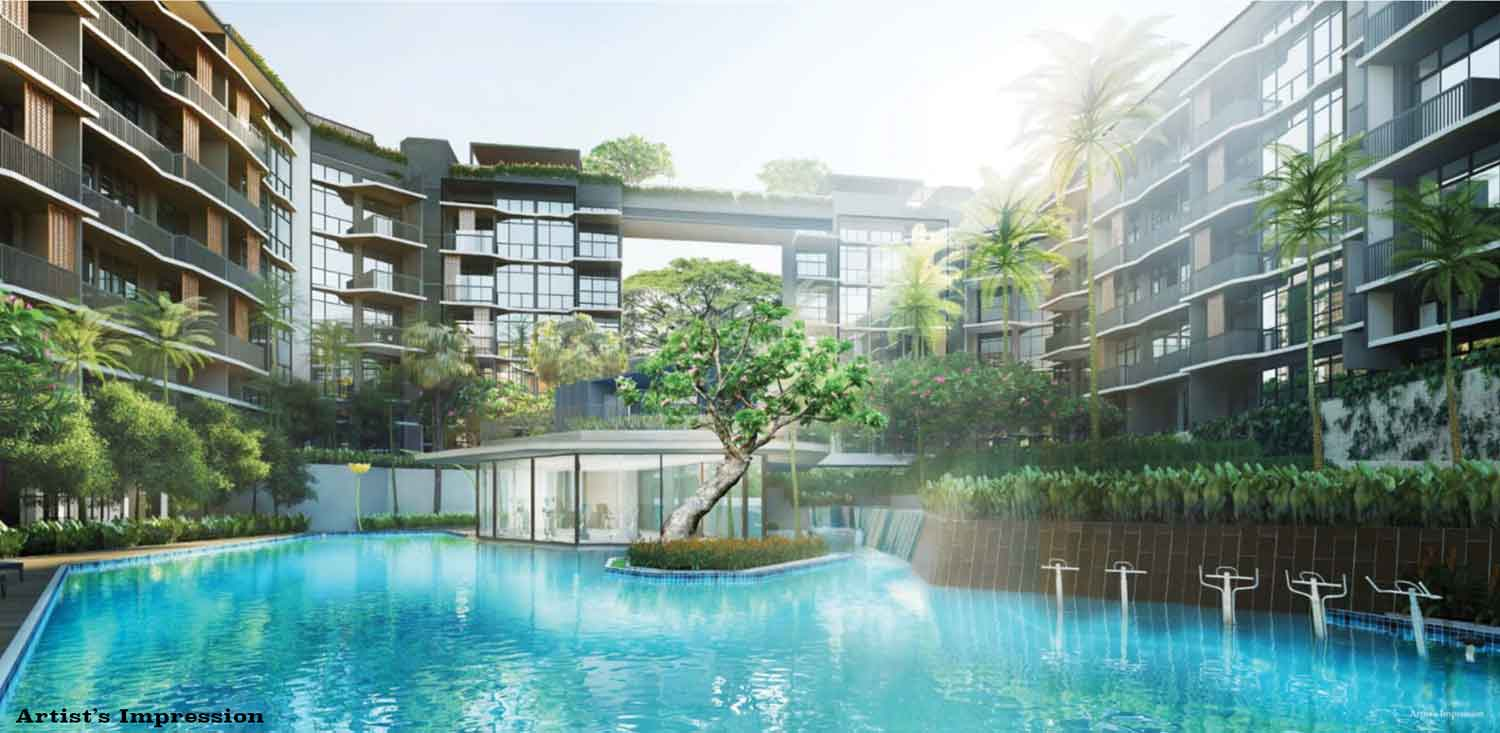 Pool and clubhouse of Daintree Residence Condo