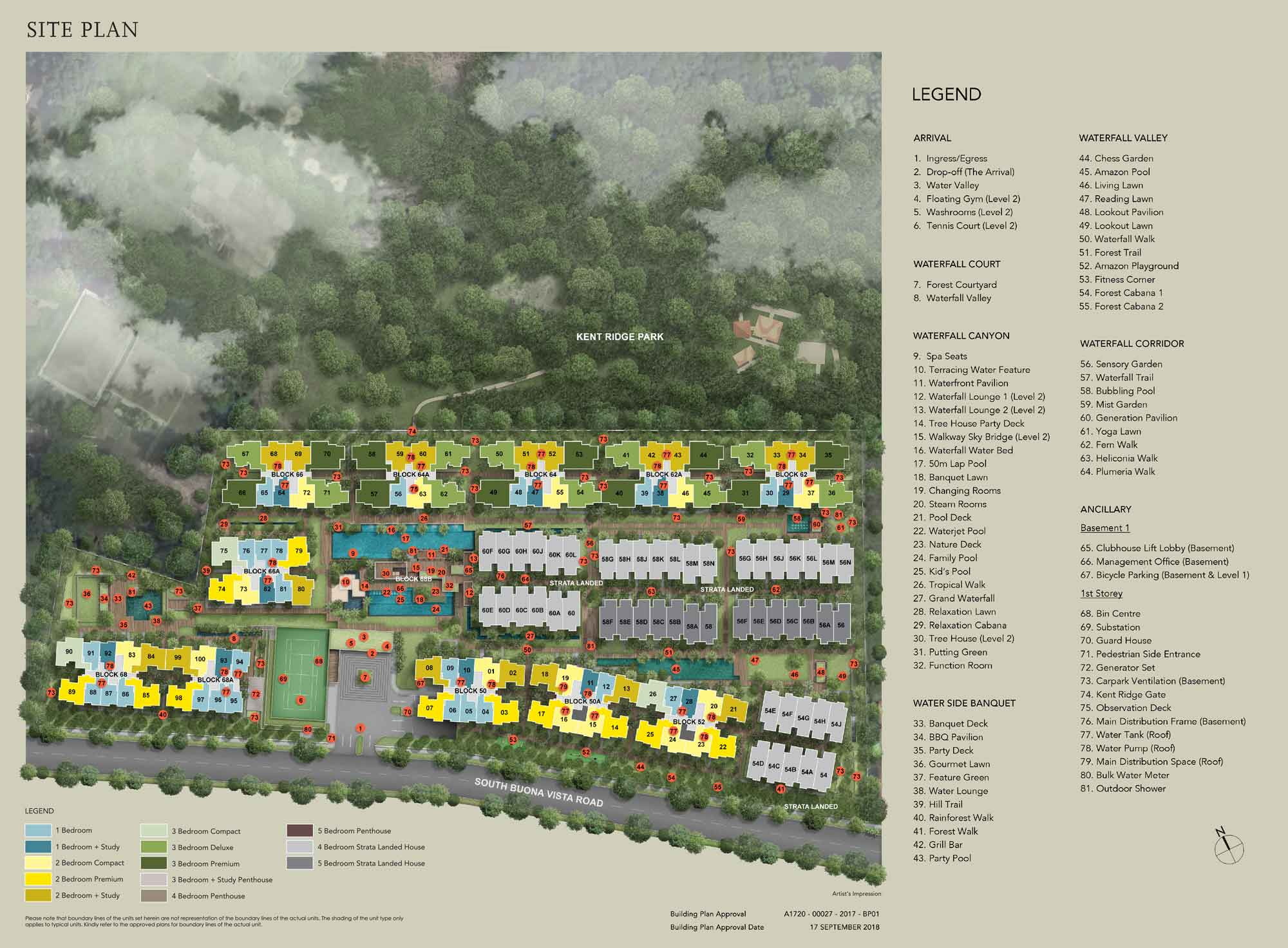 Siteplan Kent Ridge Hill Residences
