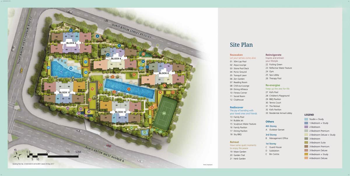 Site Plan Le Quest
