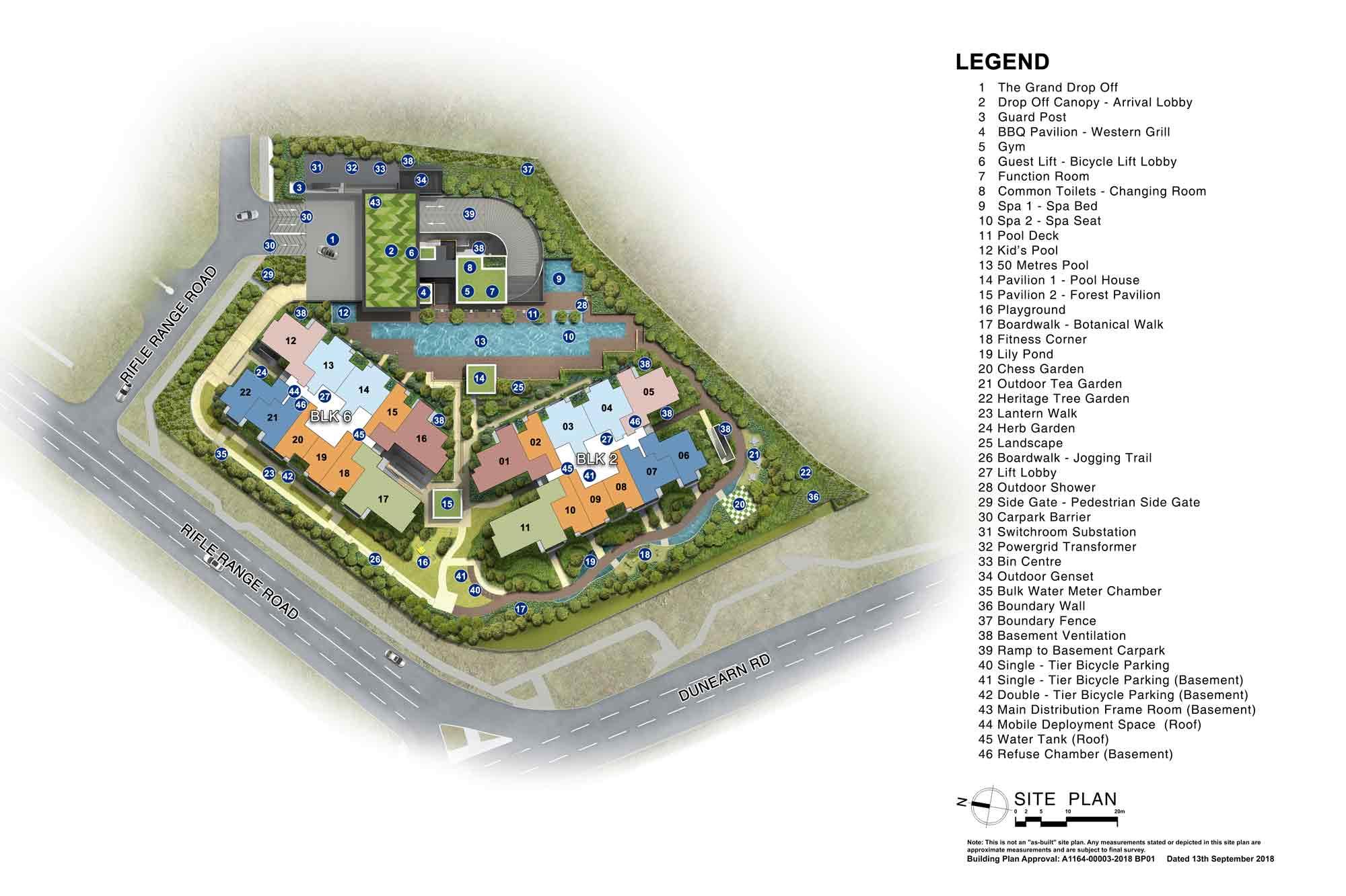 Siteplan of Mayfair Modern