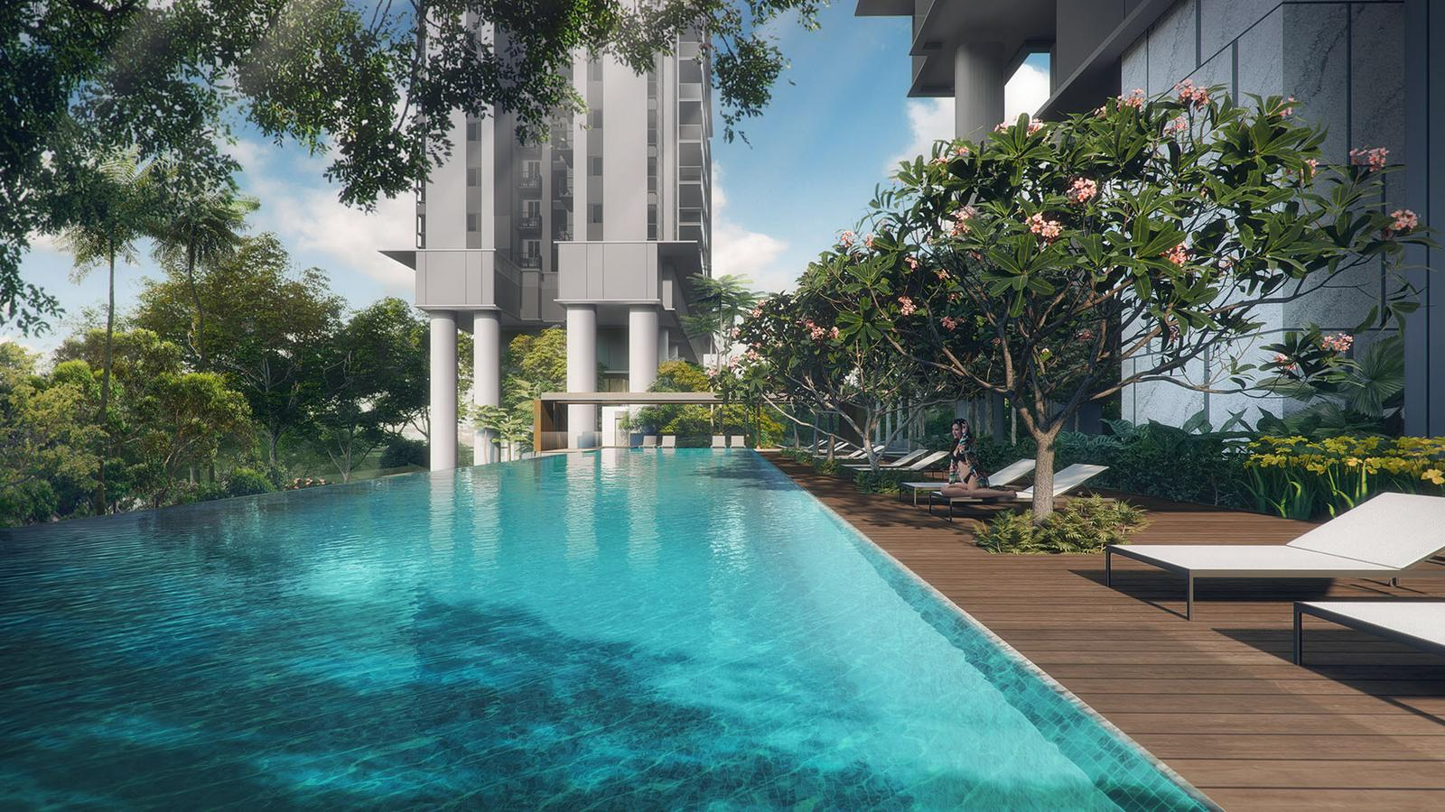 stirling residences condo near Queenstown MRT - infinity pool