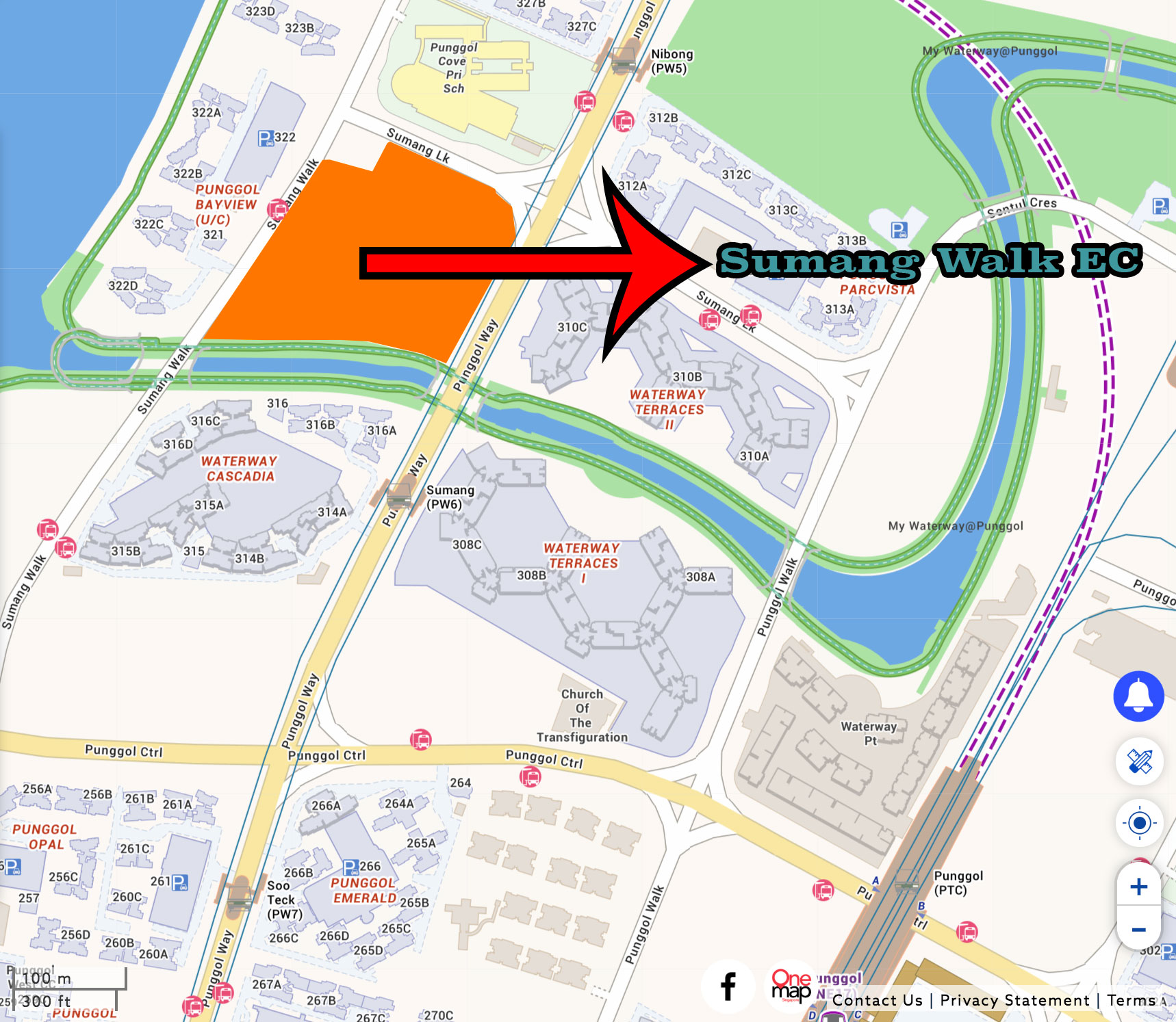 Piermont Grand - Location map of Punggol EC at Sumang Walk launching in 2019